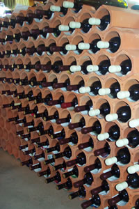 Wine is kept cool by clay tiles