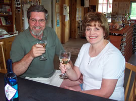 Tommy and Shirley Mabe enjoying some Peden White